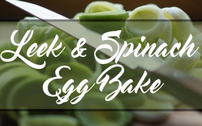 Leek & Spinach Egg Bake
