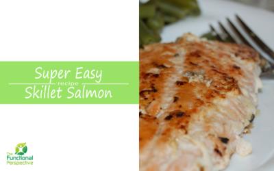 Easy Peasy Skillet Salmon w/ Lemon & Butter Sauce